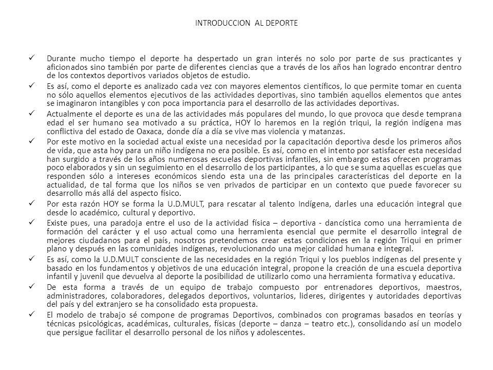 INTRODUCCION AL DEPORTE