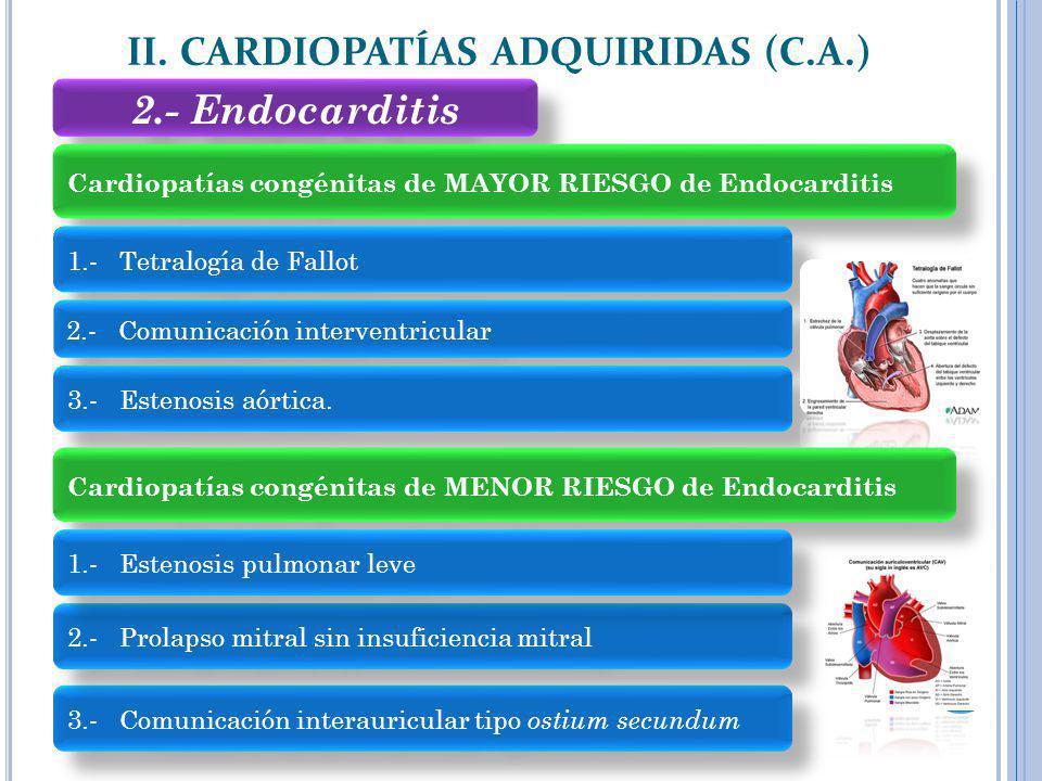 II. CARDIOPATÍAS ADQUIRIDAS (C.A.)
