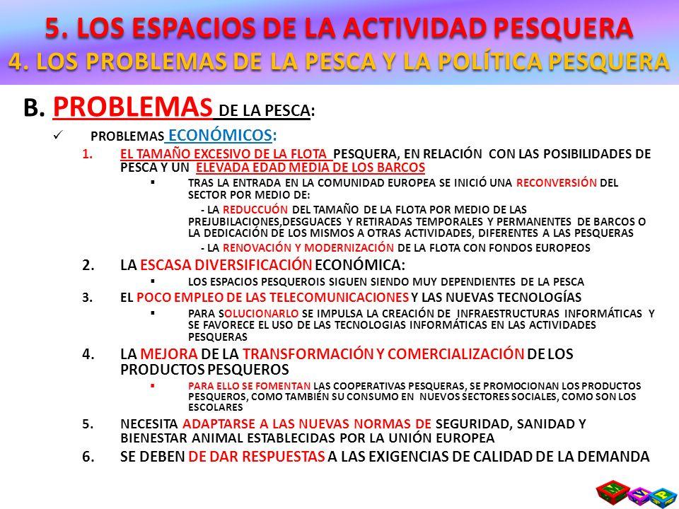 5. LOS ESPACIOS DE LA ACTIVIDAD PESQUERA 4