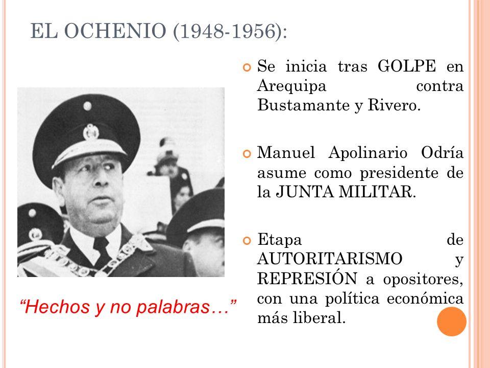 EL OCHENIO (1948-1956): Hechos y no palabras…