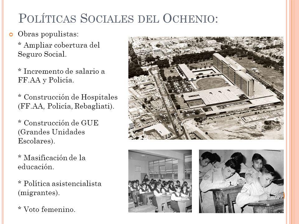 Políticas Sociales del Ochenio: