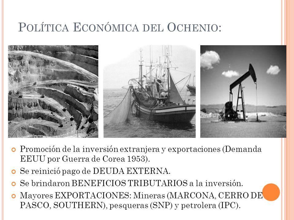 Política Económica del Ochenio: