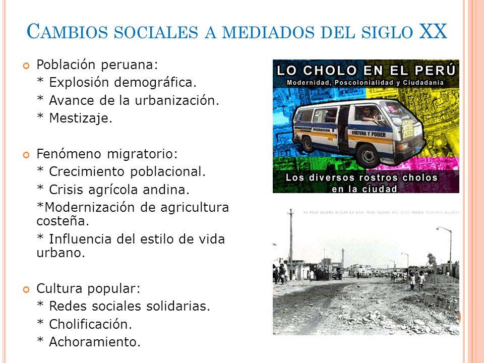 Cambios sociales a mediados del siglo XX