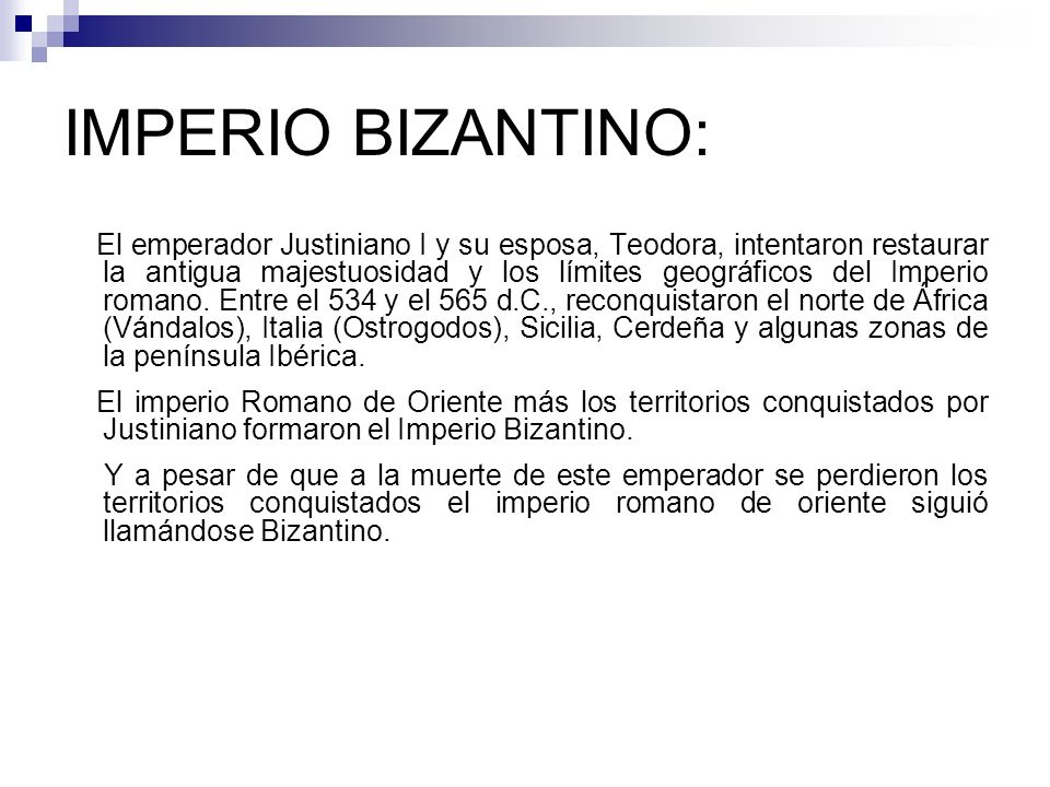 IMPERIO BIZANTINO: