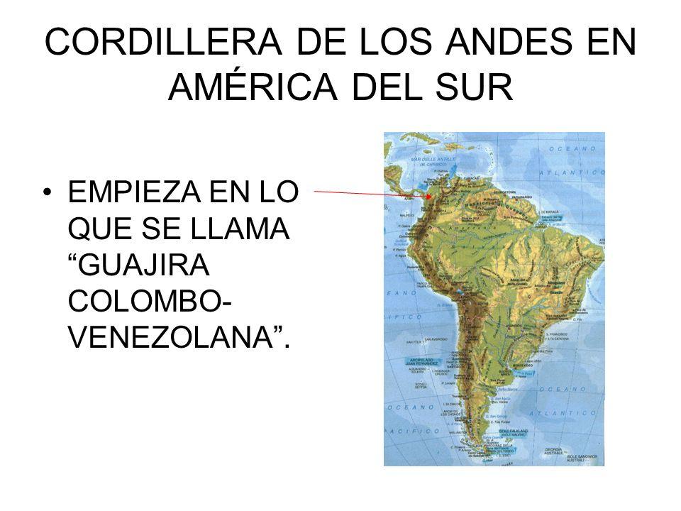 CORDILLERA DE LOS ANDES EN AMÉRICA DEL SUR