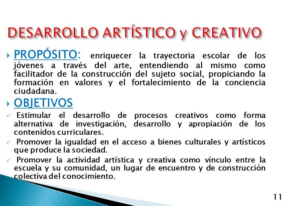 DESARROLLO ARTÍSTICO y CREATIVO