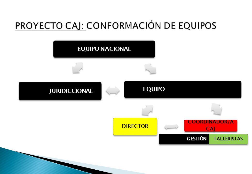 PROYECTO CAJ: CONFORMACIÓN DE EQUIPOS
