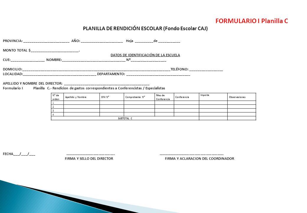 26 FORMULARIO I Planilla C