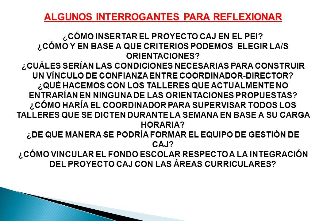 ALGUNOS INTERROGANTES PARA REFLEXIONAR