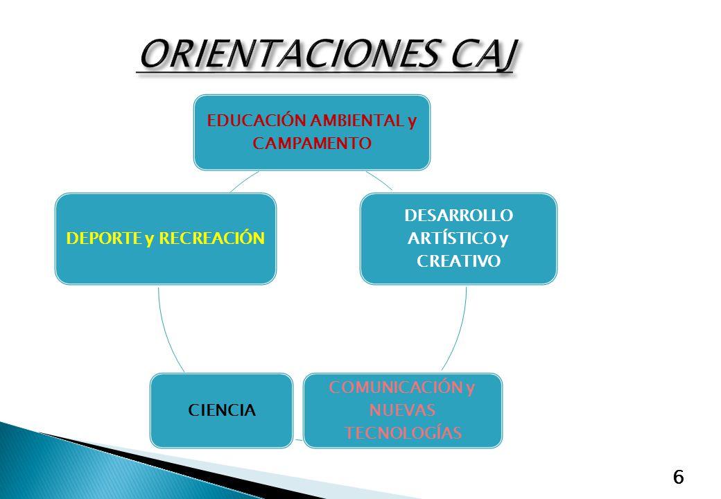 ORIENTACIONES CAJ EDUCACIÓN AMBIENTAL y CAMPAMENTO