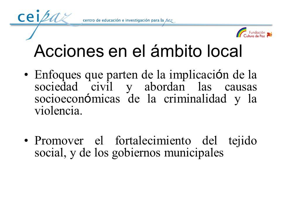 Acciones en el ámbito local