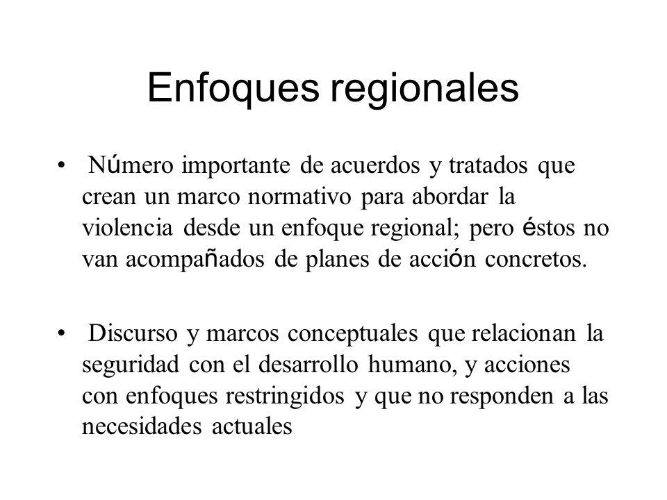 Enfoques regionales