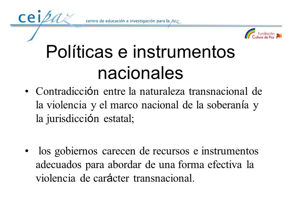Políticas e instrumentos nacionales