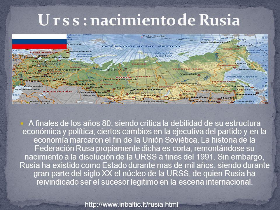 U r s s : nacimiento de Rusia