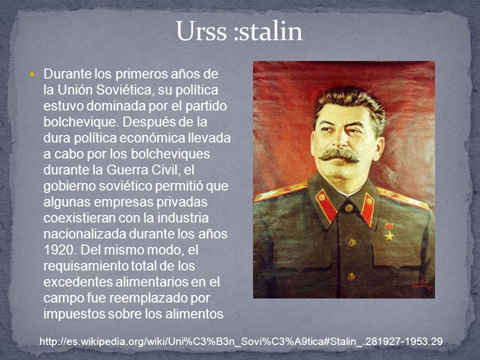 Urss :stalin
