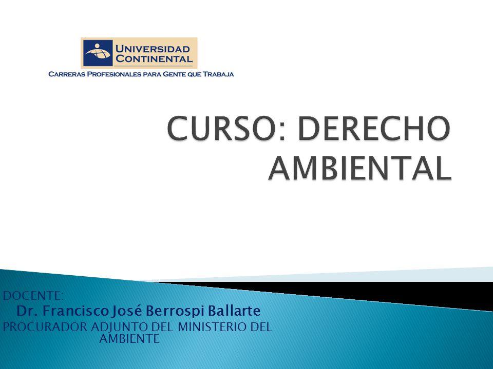 CURSO: DERECHO AMBIENTAL
