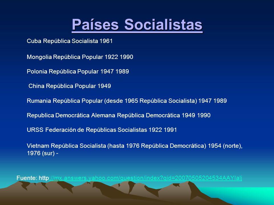Países Socialistas