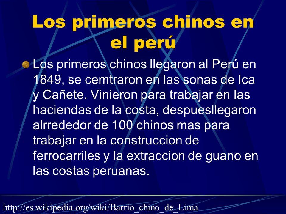 Los primeros chinos en el perú