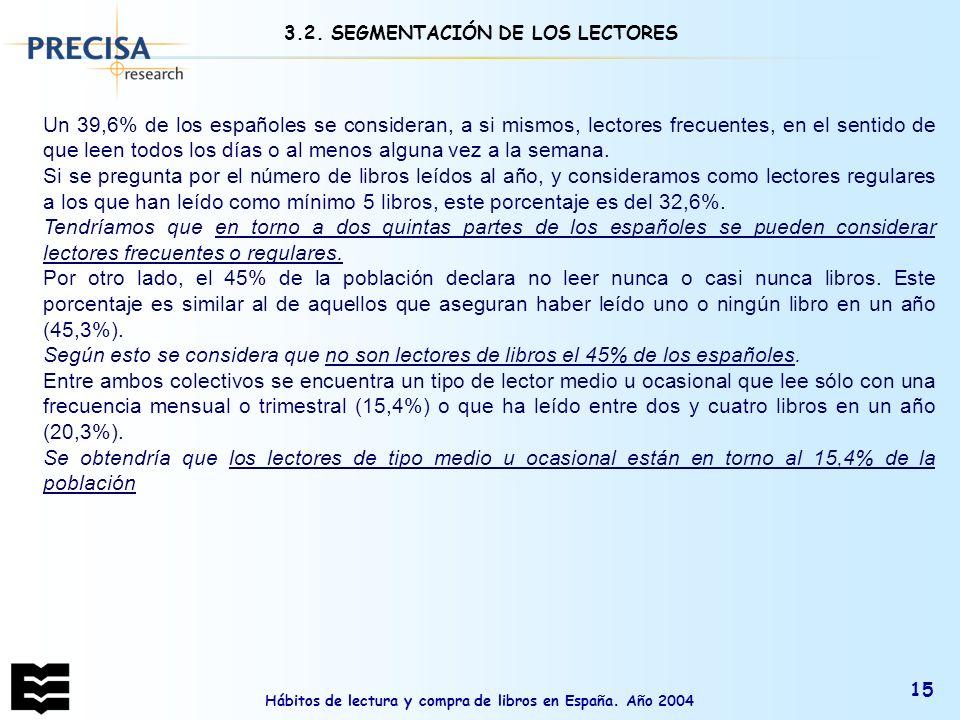 3.2. SEGMENTACIÓN DE LOS LECTORES