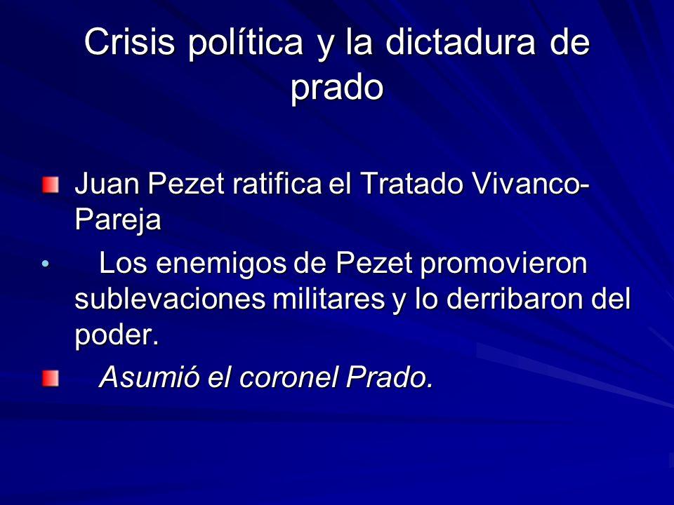 Crisis política y la dictadura de prado
