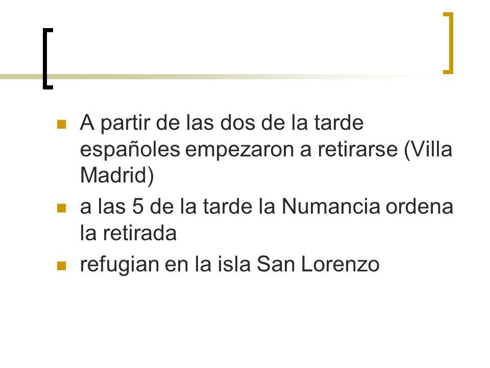 A partir de las dos de la tarde españoles empezaron a retirarse (Villa Madrid)