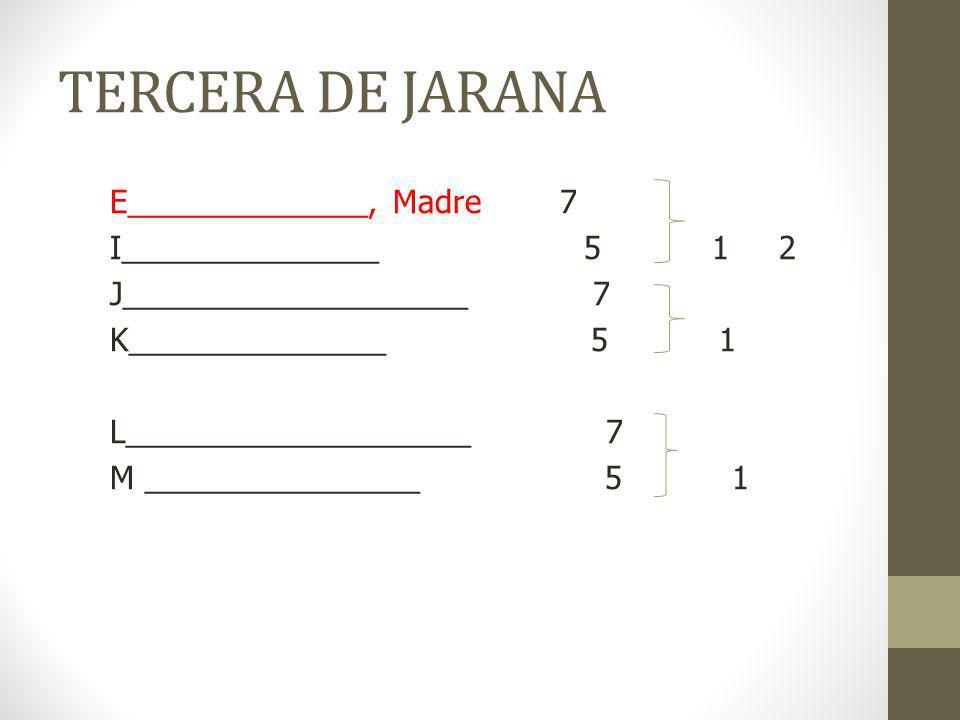 TERCERA DE JARANA