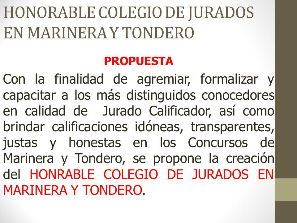 HONORABLE COLEGIO DE JURADOS EN MARINERA Y TONDERO