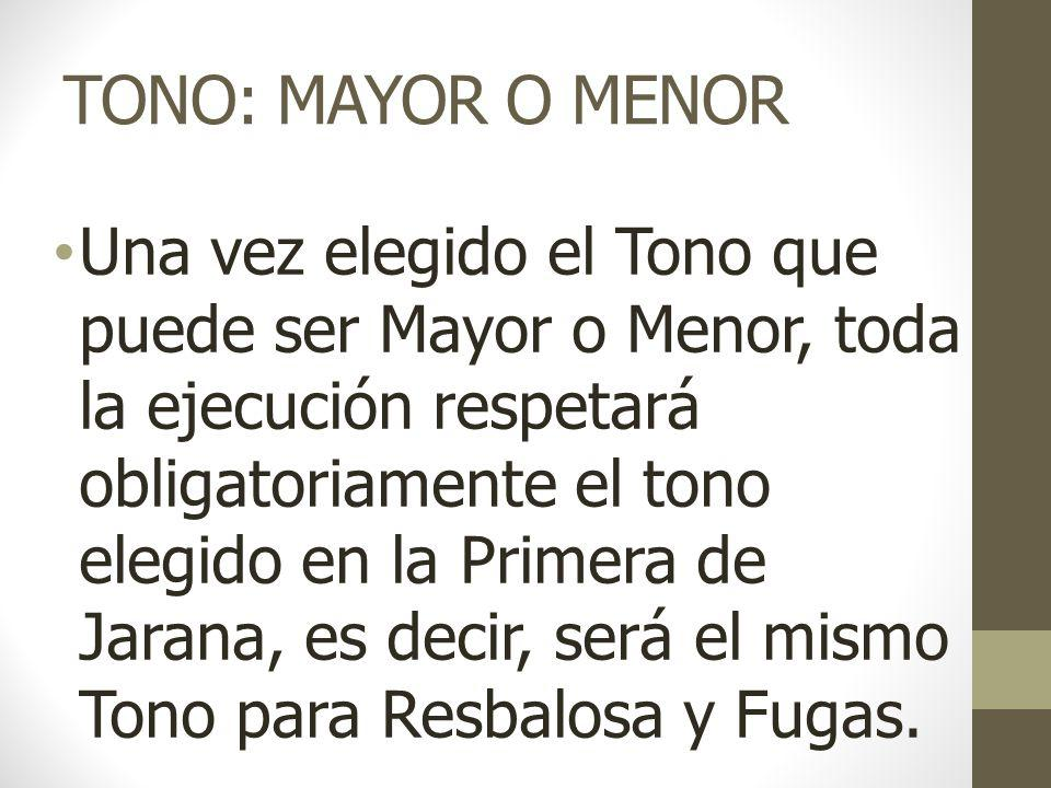 TONO: MAYOR O MENOR
