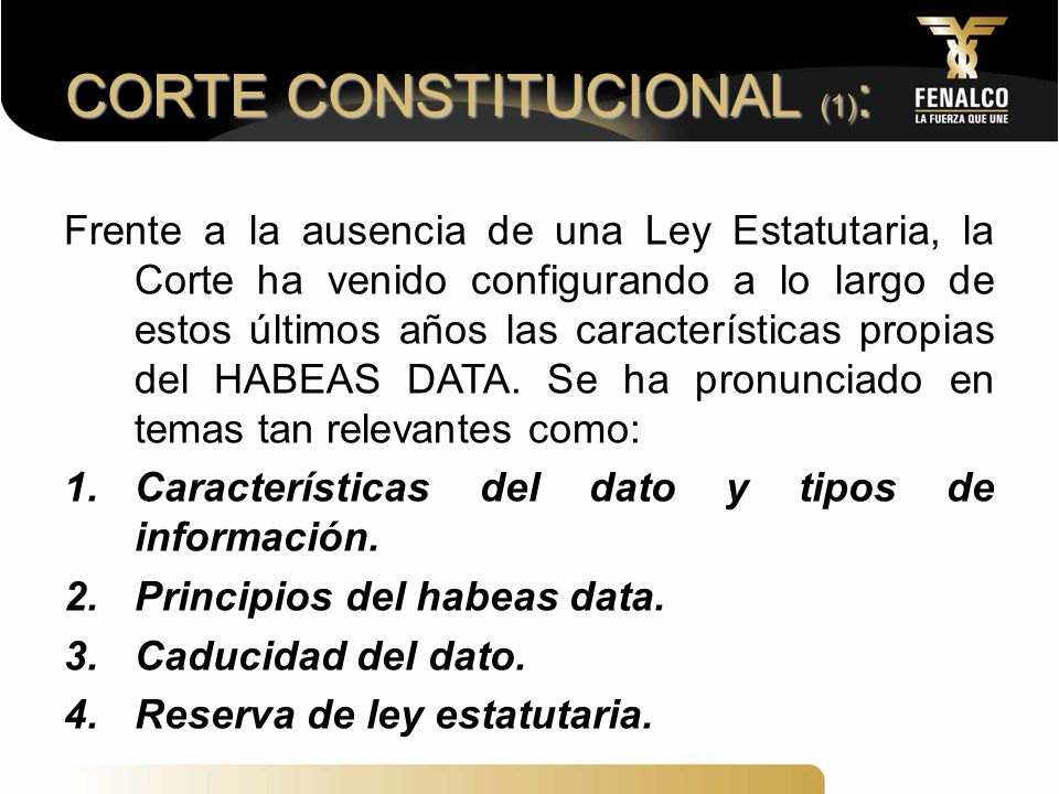 CORTE CONSTITUCIONAL (1):