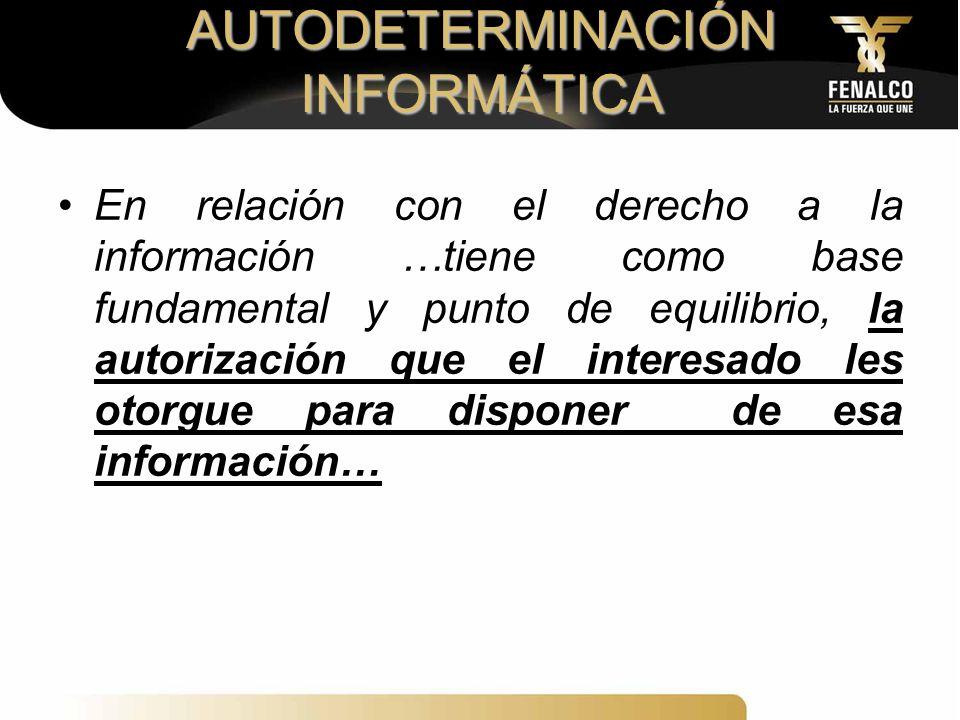 AUTODETERMINACIÓN INFORMÁTICA