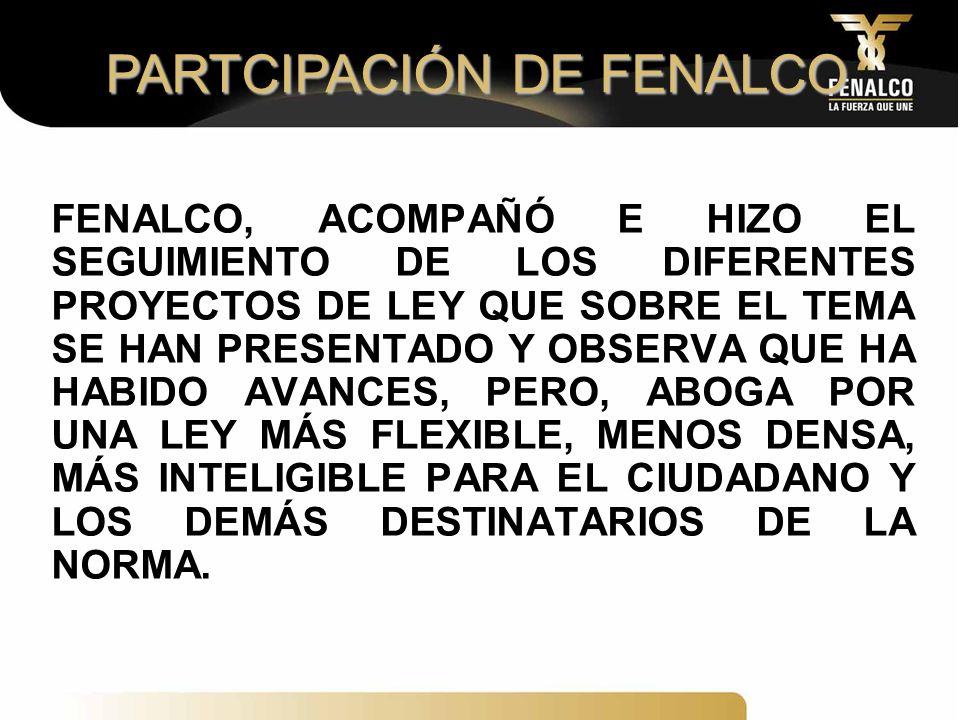 PARTCIPACIÓN DE FENALCO