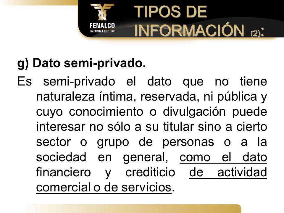 TIPOS DE INFORMACIÓN (2):