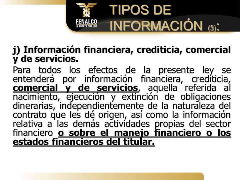 TIPOS DE INFORMACIÓN (3):
