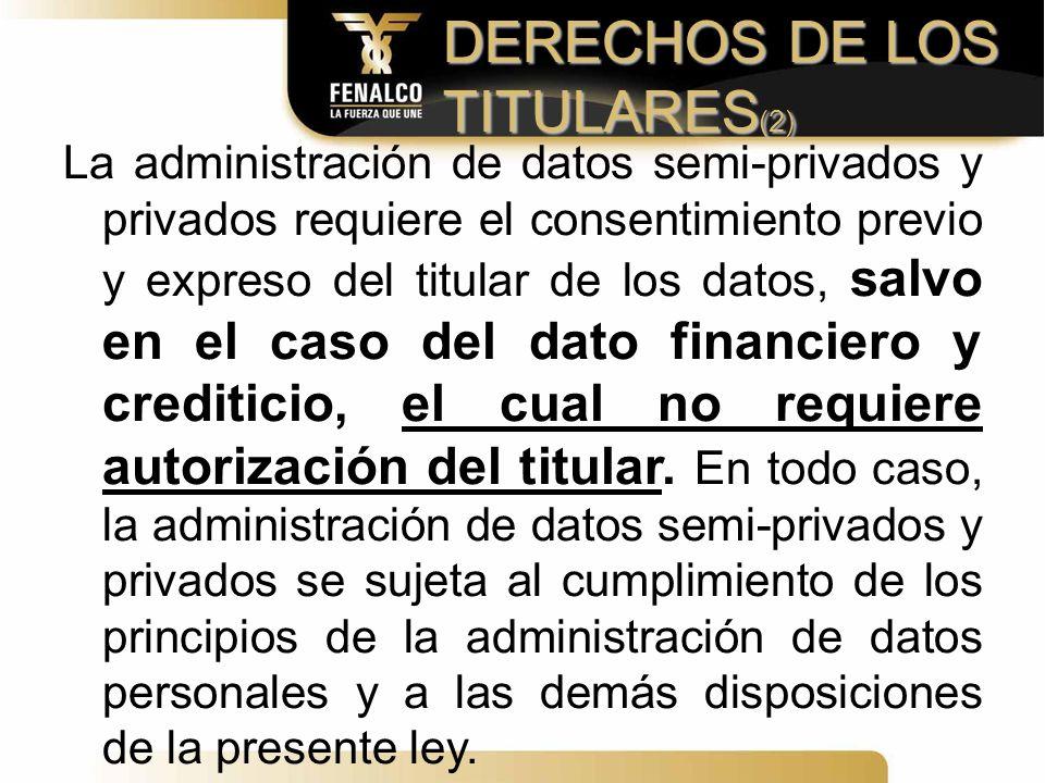 DERECHOS DE LOS TITULARES(2)