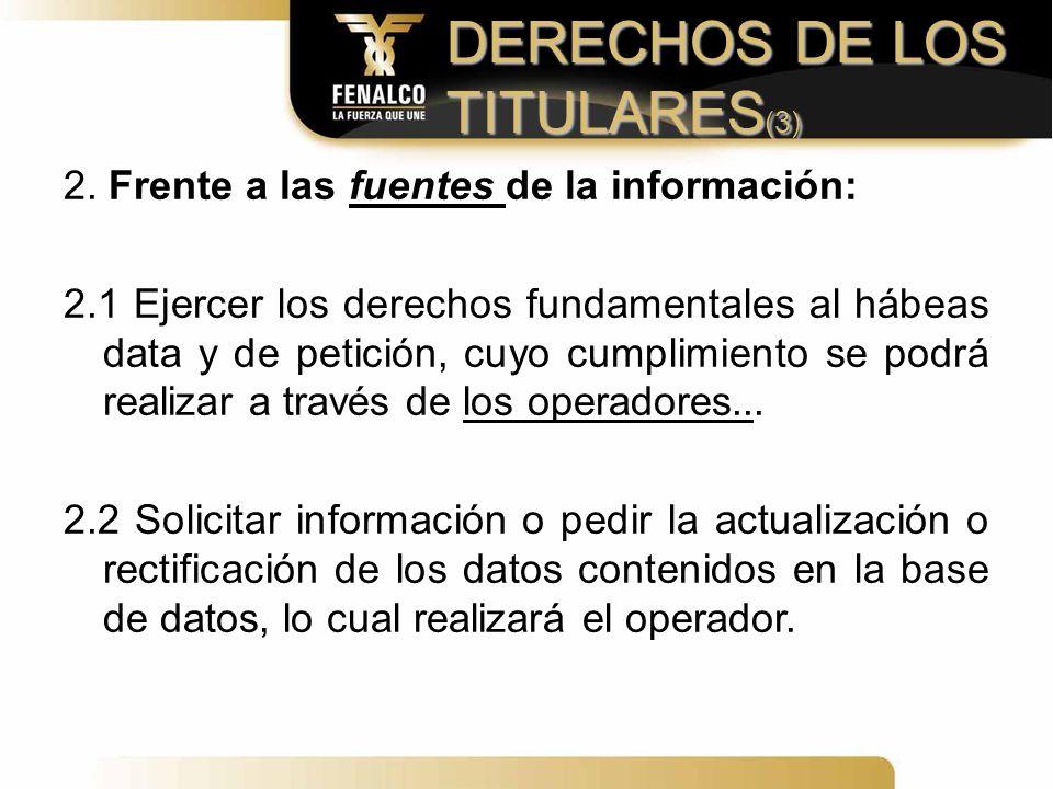 DERECHOS DE LOS TITULARES(3)