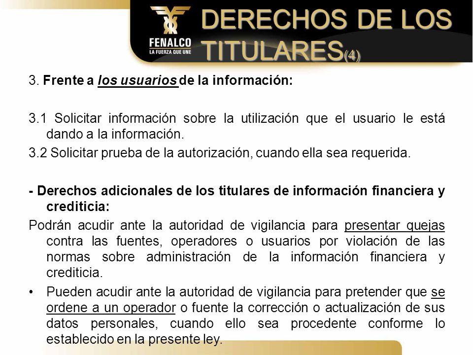 DERECHOS DE LOS TITULARES(4)