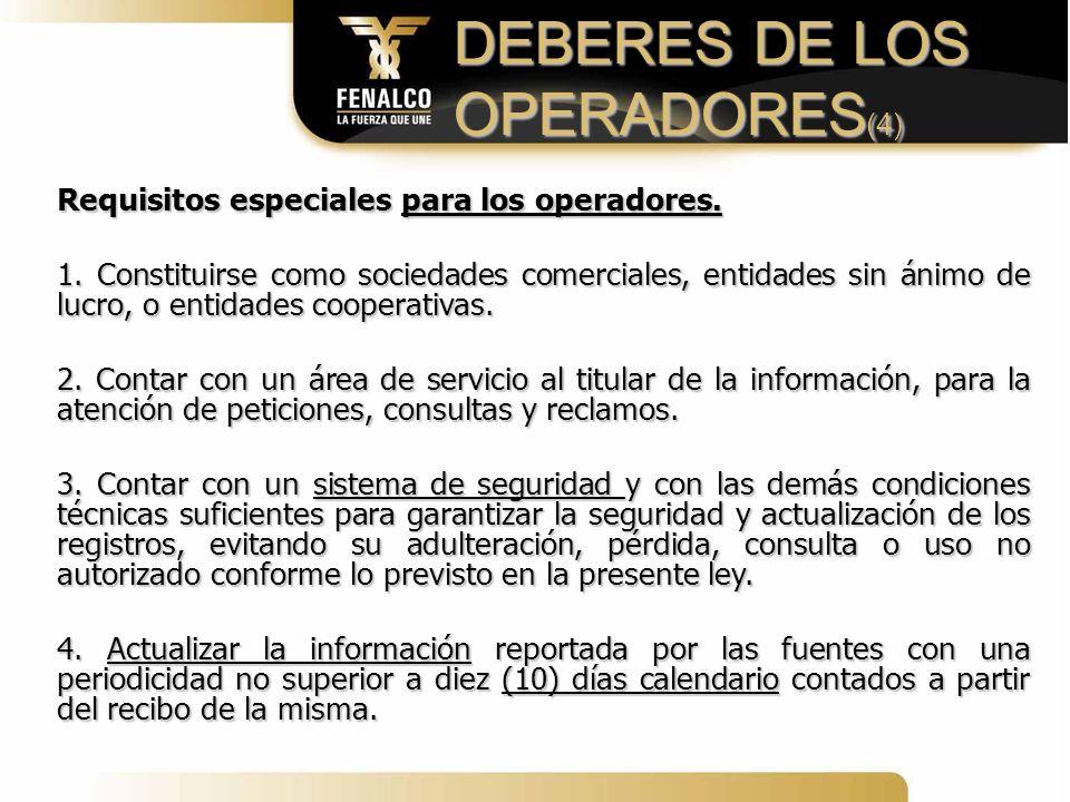 DEBERES DE LOS OPERADORES(4)