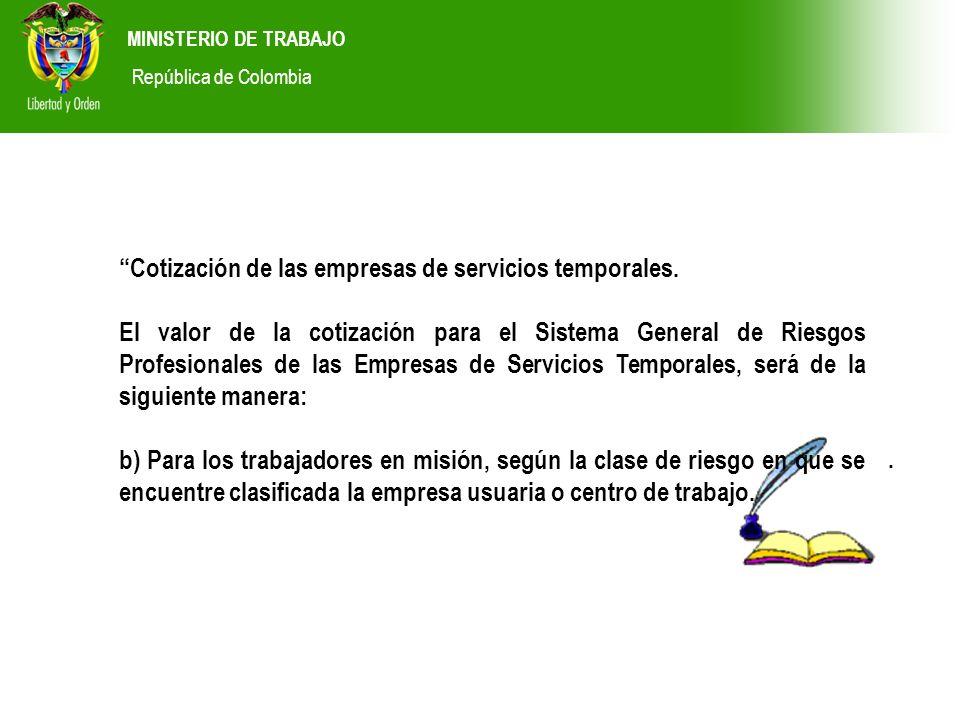 Cotización de las empresas de servicios temporales.