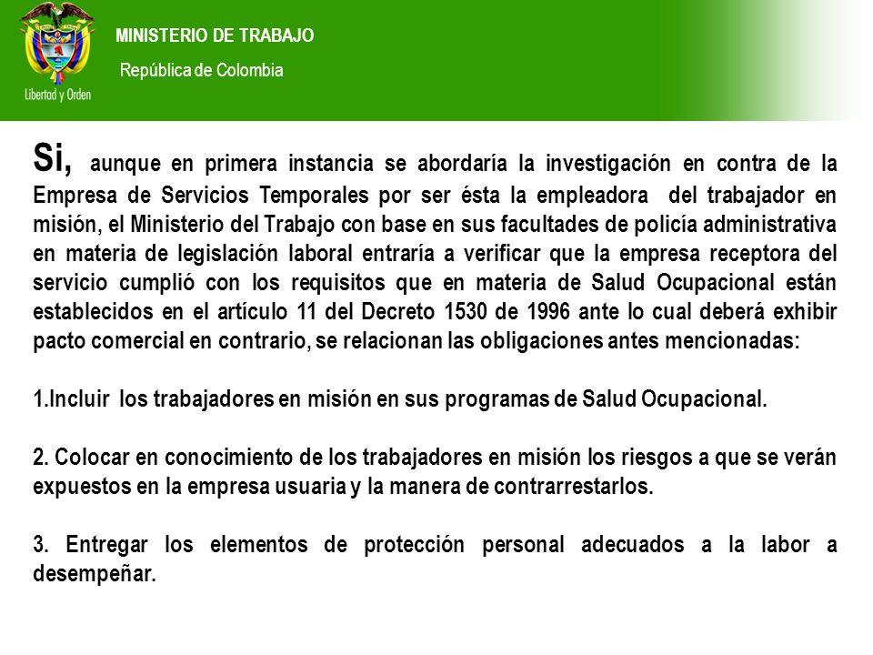 MINISTERIO DE TRABAJORepública de Colombia.