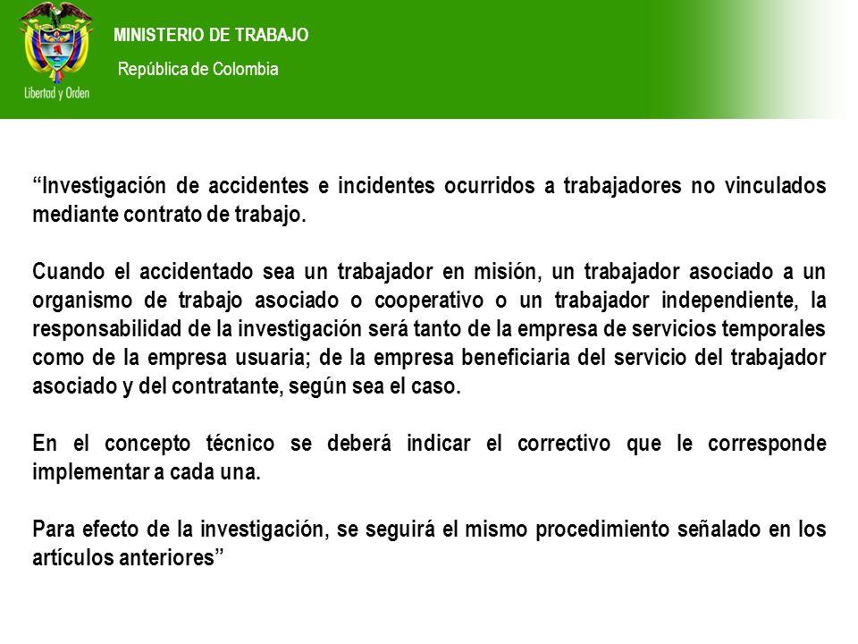 MINISTERIO DE TRABAJO República de Colombia.