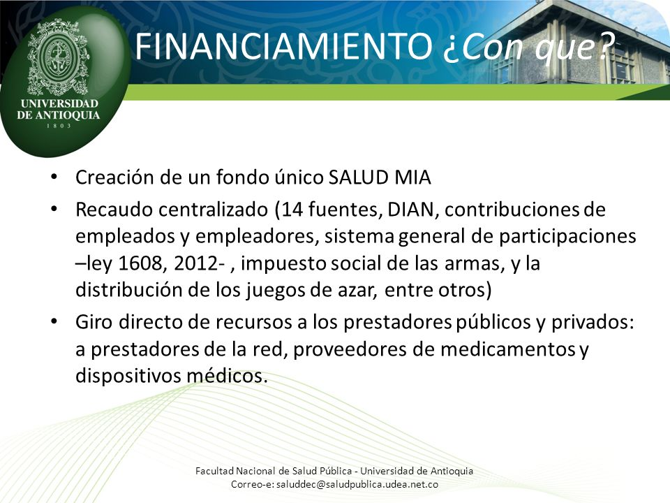 FINANCIAMIENTO ¿Con que