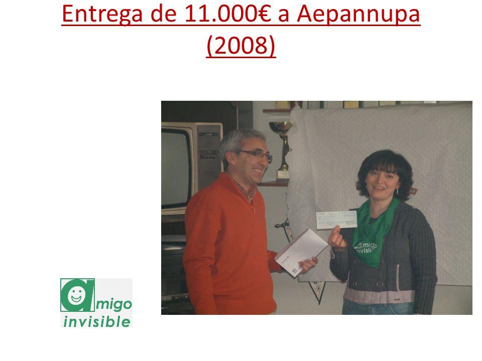 Entrega de 11.000€ a Aepannupa (2008)