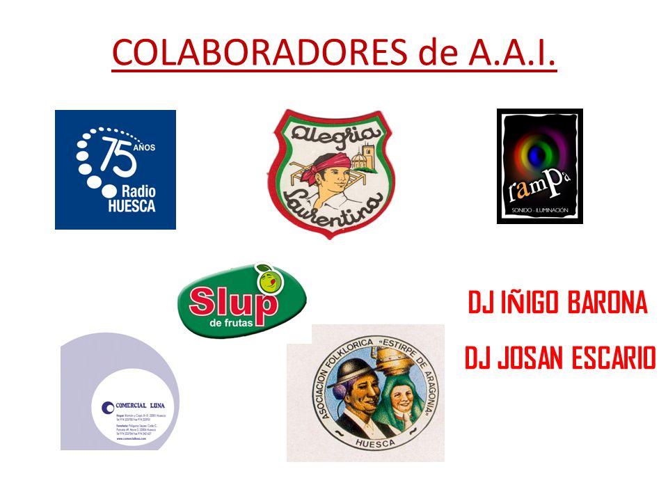 COLABORADORES de A.A.I. DJ IÑIGO BARONA DJ JOSAN ESCARIO