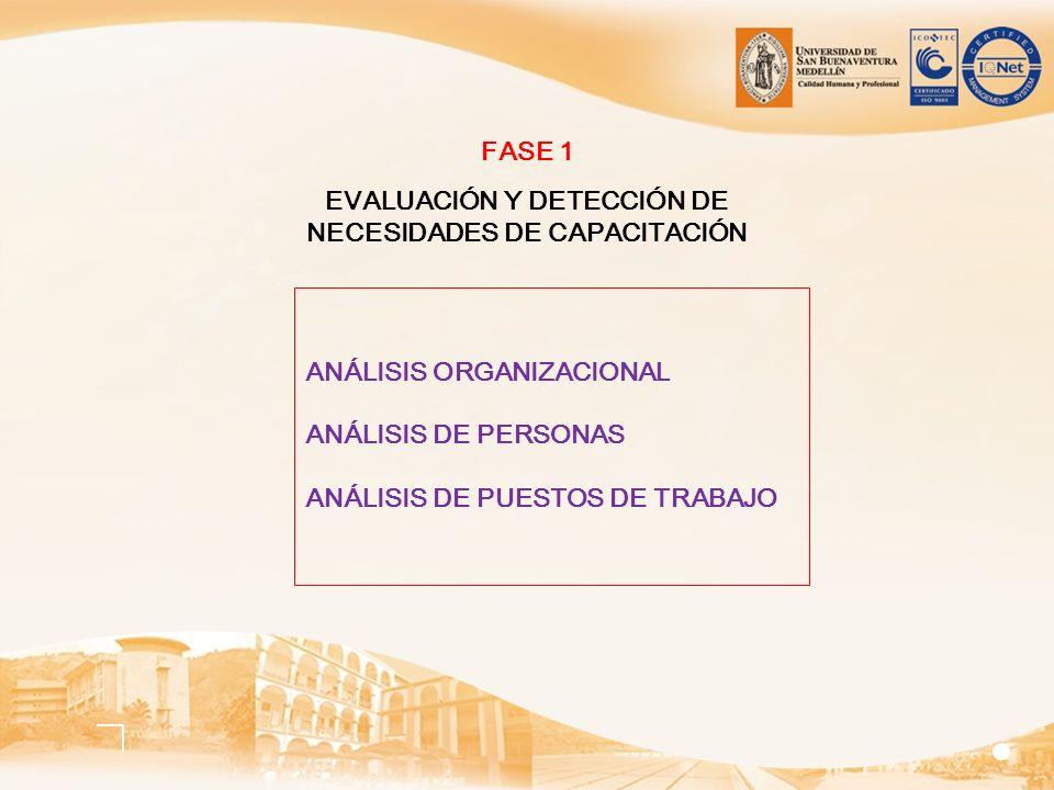 EVALUACIÓN Y DETECCIÓN DE NECESIDADES DE CAPACITACIÓN