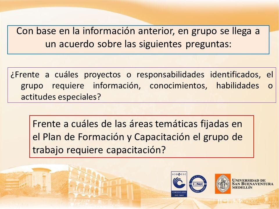 Con base en la información anterior, en grupo se llega a un acuerdo sobre las siguientes preguntas:
