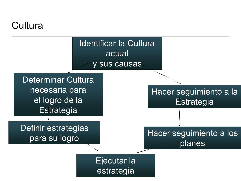 Cultura Identificar la Cultura actual y sus causas Determinar Cultura