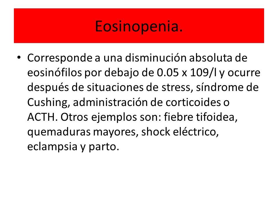 Eosinopenia.