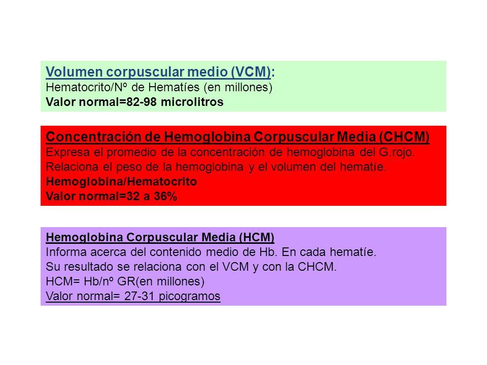 Volumen corpuscular medio (VCM):