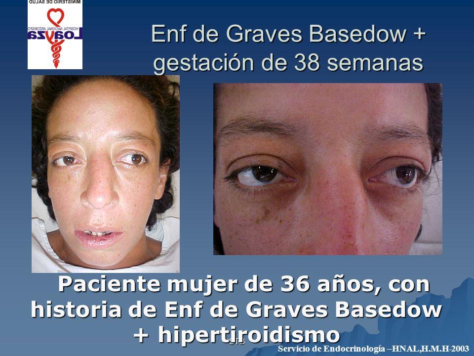 Enf de Graves Basedow + gestación de 38 semanas