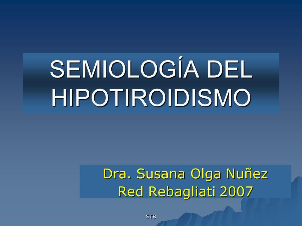 SEMIOLOGÍA DEL HIPOTIROIDISMO